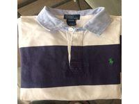 Sweat shirt R.Lauren, ligné blanc et bleu, t.12/14