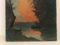 Huile sur Toile, 1879, Soleil Couchant, marine