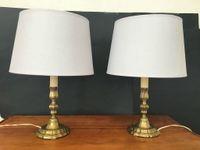 Paire de petites lampes de chevet en bronze