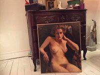 Peinture à l'huile, nu des années trente