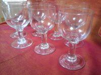 Série de verres soufflés 1900