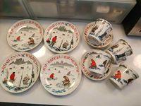 Vends service à dessert en porcelaine de St Pétersbourg