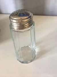Sucrier verseur verre et métal argenté. Excellent état