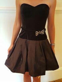 Vends ravissante Petite Robe Noire T.36cocktail-soirées-mariage