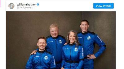 Актьорът Уилям Шатнър стана най-възрастният човек в космоса