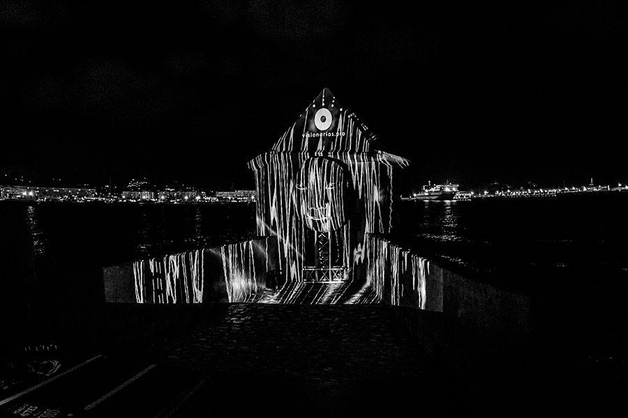 Puerto de Ibiza vídeo mapping instalaciones de luz