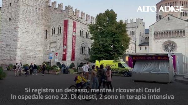 Il bollettino dei contagi in Trentino: 5 nuovi casi, morto un settantenne non vaccinato