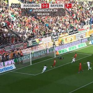 Баерн Минхен прими гол од Аугзбург уште во 27. секунда!