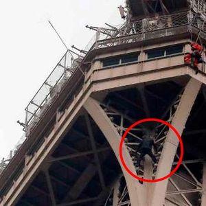 Неизвестен направи опит за фрий соло изкачване на Айфеловата кула