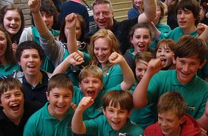 Chalford's youngsters celebrate