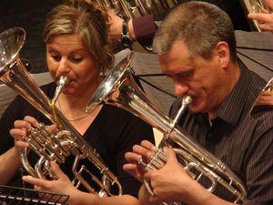 Brass Band Willebroek in action