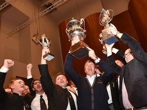 Black Dyke celebrating their win