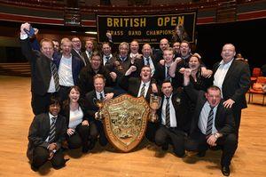 Grimethorpe celebrate their British Open win