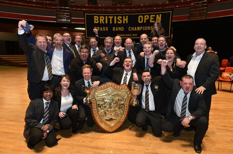 Grimethorpe celebrate their British Open win