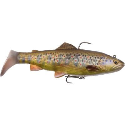 Savage Gear 4D Trout Rattle Shad 20.5cm 120g MS 03-Dark Brown Trout