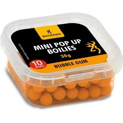 Browning Mini Pop Up Boilie, vorgebohrt orange Bubble Gum 10mm 30g