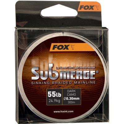 FOX Submerge Dark Camo Sinking Braid x 600m 0.30mm 55lb