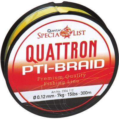 Quantum 0.14mm,150m,Quattron PTI-Schnur,gelb