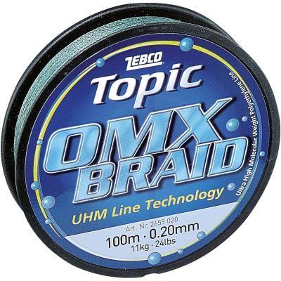 ZEBCO 0.16mm,100m,Topic OMX Schnur,gruen