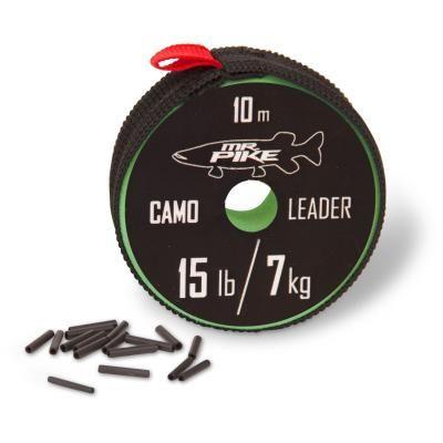 Quantum Mr. Pike Camo Coated Leader Material 10m 9kg camou