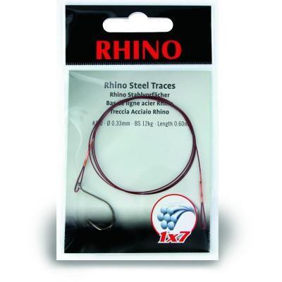 #2 Rhino Stahlvorfach 1x7 8kg 0,27mm 1 Stück 0,6m