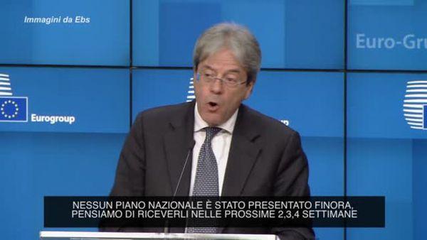 Covid, Gentiloni: Fiduciosi che Italia presentera' buon piano ripresa - Italia
