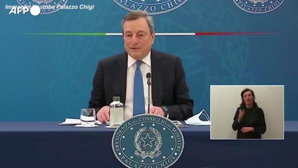 Covid, Draghi annuncia il pass tra regioni di colori diversi - Italia