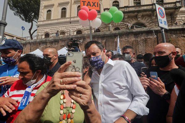 Lega: Salvini alla manifestazione a Roma, 'piazza bellissima' - Politica