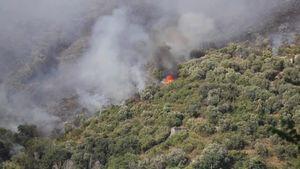 Tivoli, incendio sul Monte Catillo: canadair in azione - Italia