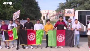 Ginevra, afghani manifestano contro i talebani fuori la sede europea dell'Onu - Mondo