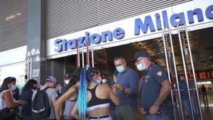 No green pass, manifestanti respinti a Milano: