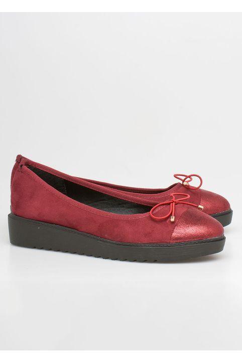 Margaret ballet shoe, μπορντό