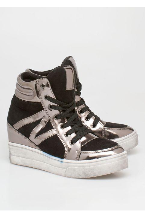 Baily flatform sneaker, μαύρο
