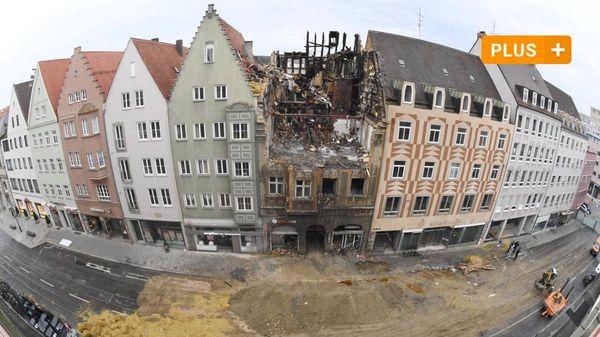 Großeinsatz an der Brandruine in der Karolinenstraße geht weiter