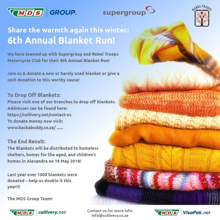 Share the warmth this winter - blanket drive