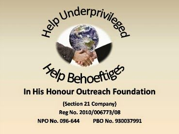 In His Honour Outreach Foundation (Pty) Ltd Logo