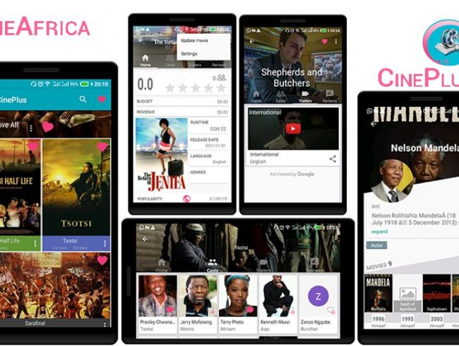 Cinema App for 54 African countries