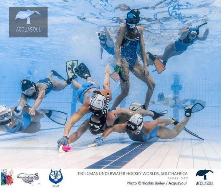 Fran and Roxi - Underwater Hockey Campaign Logo