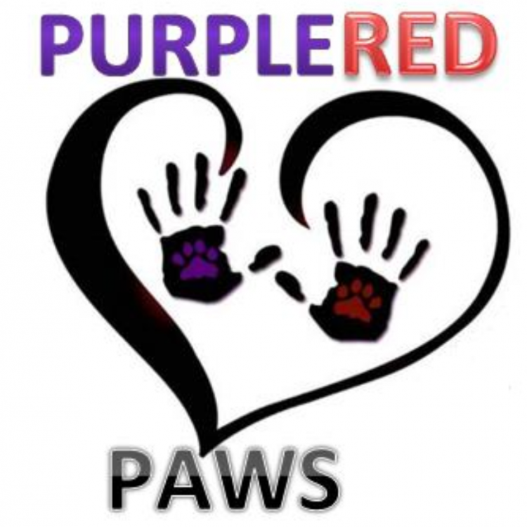 Purple Red Paws Amaranthine Rescue and Rehabilitation Centre  Logo