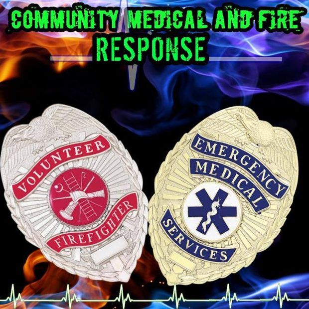 Community Medical and Fire Response Cause Logo
