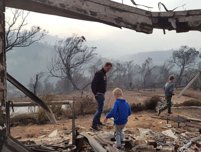 Lost it all in the Knysna Fire