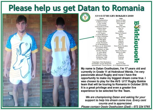 Datan Oosthuizen Rugby Cause Logo