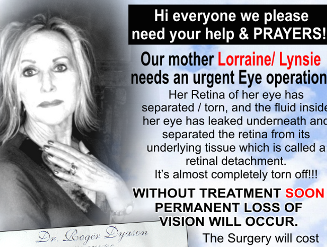 Lorraine's Eye Operation