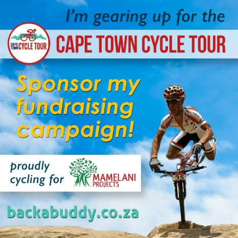 Lubabalo's Cape Town Cycle Tour 2017 for Mamelani Projects