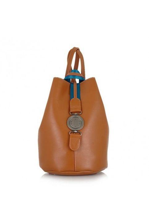 FRNC FRANCESCO Τσάντα Γυναικεία Πλάτης-Backpack 562 Ταμπά FRNC 562 Ταμπά