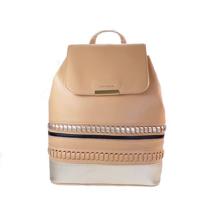 Duki Daso Τσάντα Γυναικεία Πλάτης-Backpack Τ6255 Μπεζ