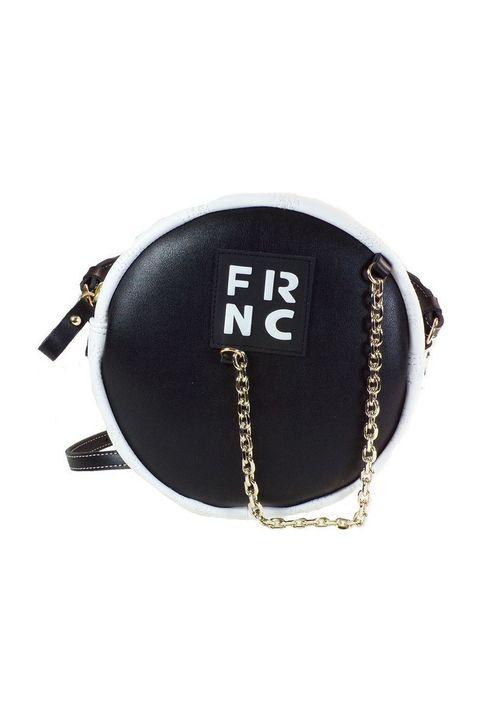 FRNC FRANCESCO Τσάντα Γυναικεία Ώμου-Χιαστί WAL041 Μαύρο-Λευκό Καπιτονέ
