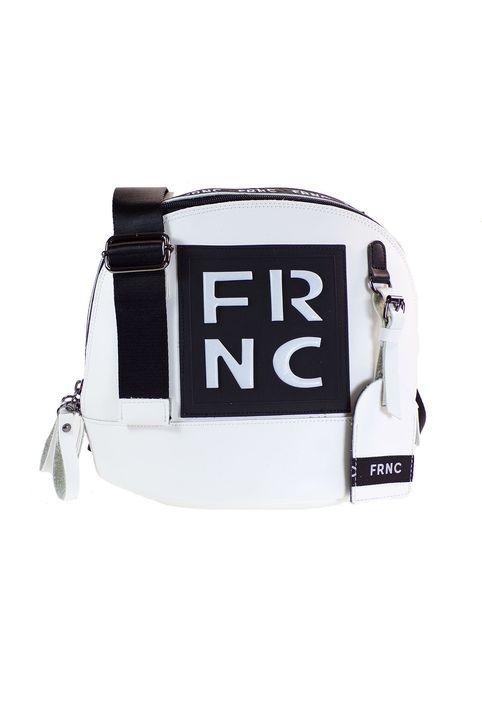 FRNC FRANCESCO Τσάντα Γυναικεία Ώμου-Χιαστί 2103 Λευκό Δέρμα