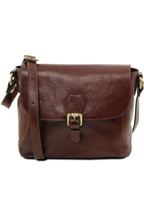 Τσαντάκι Δερμάτινο Jody Καφέ Tuscany Leather