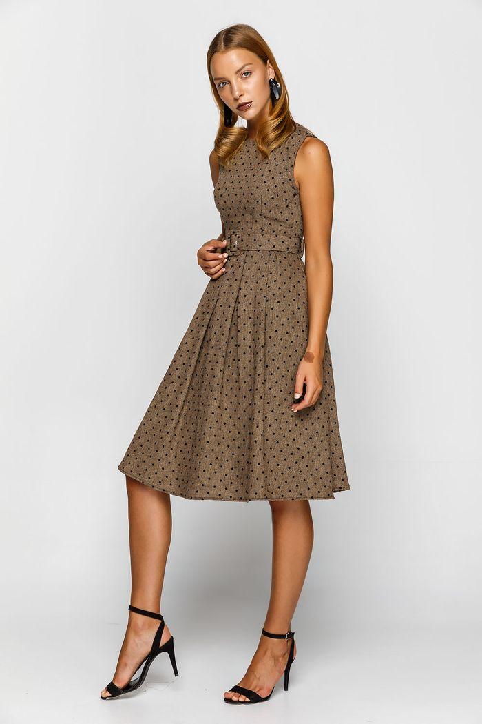 Φόρεμα αμάνικο πουά